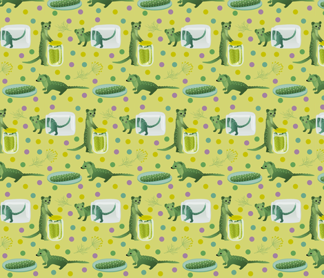 pickle_weasels fabric by roxiespeople on Spoonflower - custom fabric