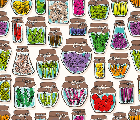 Pickles and more! fabric by leventetladiscorde on Spoonflower - custom fabric