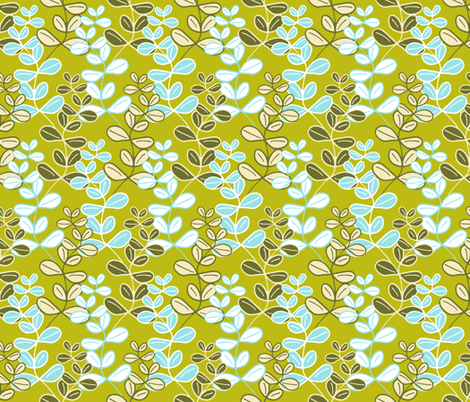 Growing Lucky Blue on Bamboo fabric by inscribed_here on Spoonflower - custom fabric