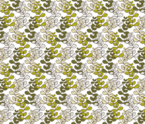 Growing Lucky White fabric by inscribed_here on Spoonflower - custom fabric