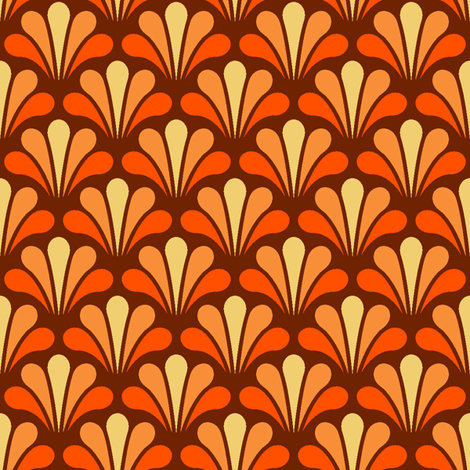 a splash of pumpkin juice fabric by sef on Spoonflower - custom fabric