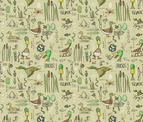 Marvellous Mallards fabric by mulberry_tree on Spoonflower - custom fabric