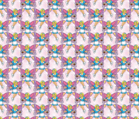 coffee fairy fabric by hannafate on Spoonflower - custom fabric