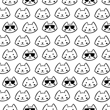 Cool Cat fabric by smashworks on Spoonflower - custom fabric