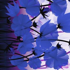 navy floral border print