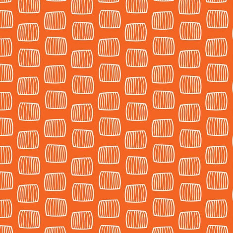 Bales - Orange fabric by smashworks on Spoonflower - custom fabric