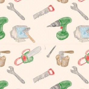 hacker tools (watercolor)