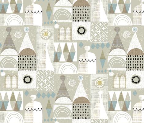 magical sandcastle fabric by ottomanbrim on Spoonflower - custom fabric