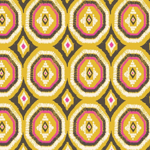yellow ikat octagon