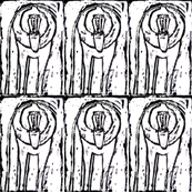 Baboon Woodcut Repeat