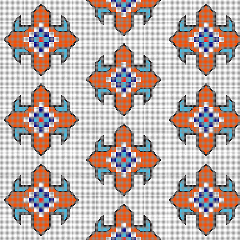 Beaded Star   fabric by david_kent_collections on Spoonflower - custom fabric