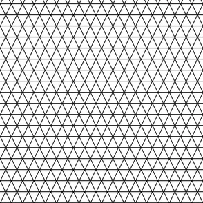 Kahn-Inspired Triangles, b/w, small (1 inch)