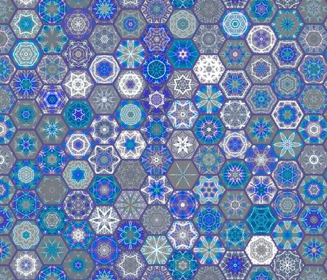 Snowcatcher Hexie Madness 01 fabric by snowcatcher on Spoonflower - custom fabric
