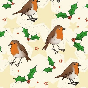 Robins, Holly and Stars