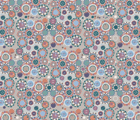 Coast Rockpools overcast fabric by colour_angel_by_kv on Spoonflower - custom fabric
