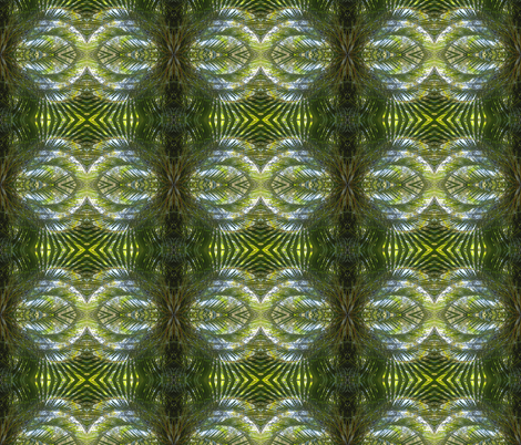 Flirty Palm Fans in the Green Realm - Medium Scale (Ref. 1729) fabric by rhondadesigns on Spoonflower - custom fabric