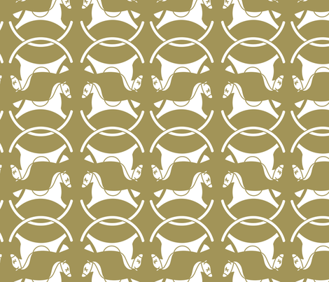 white_on_taupe_horses fabric by newmomdesigns on Spoonflower - custom fabric