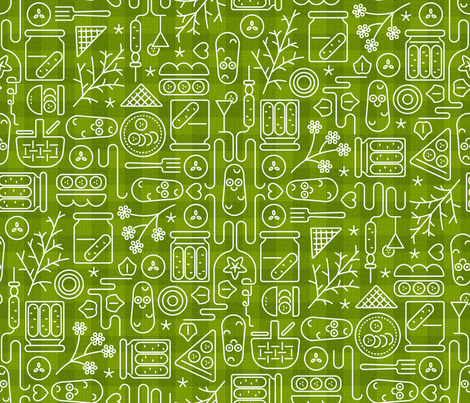 Pickles - Picnic fabric by mia_valdez on Spoonflower - custom fabric