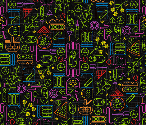 Pickles: Saturday_Night fabric by mia_valdez on Spoonflower - custom fabric