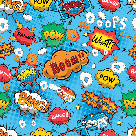 Pow Bang Boom  fabric by sandityche on Spoonflower - custom fabric