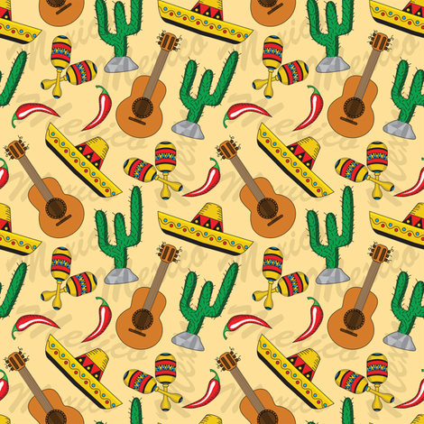 Cinco de Mayo  fabric by sandityche on Spoonflower - custom fabric