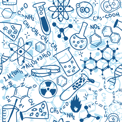 Chemistry fabric by pinkpineappledesign on Spoonflower - custom fabric