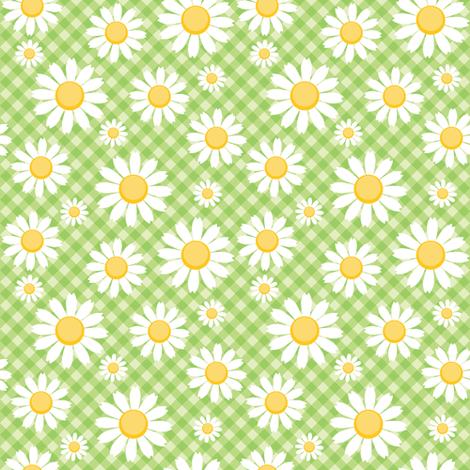 Daisy Gingham fabric by lunastone_crafts on Spoonflower - custom fabric