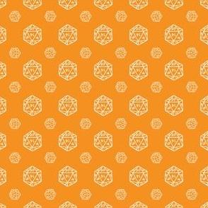 Orange d20