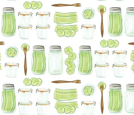 Pickles fabric by jillbyers on Spoonflower - custom fabric