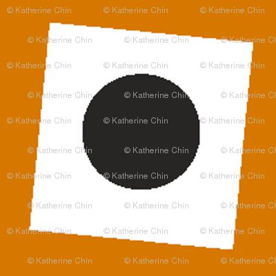 Burnt Orange Circle Squared
