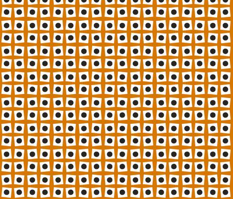 Burnt Orange Circle Squared fabric by sewluvin on Spoonflower - custom fabric