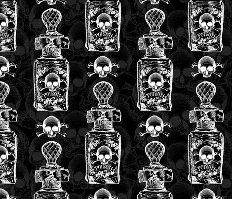 Pretty Poison Bottle Gothic fabric by ophelia on Spoonflower - custom fabric
