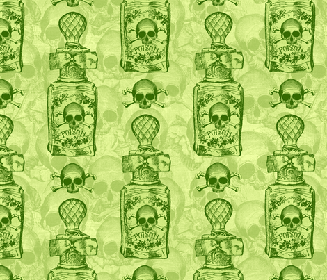 Pretty Poison Bottle Green fabric by ophelia on Spoonflower - custom fabric