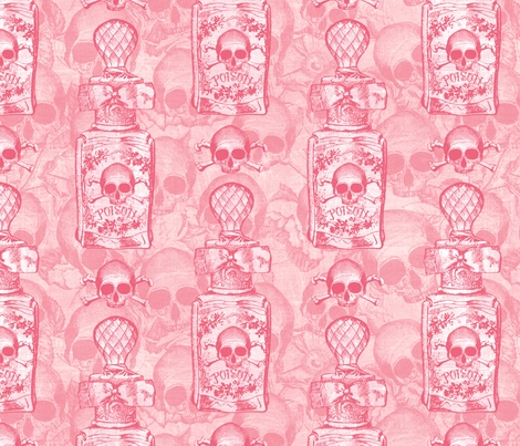 Pretty Pink Poison Bottle fabric by ophelia on Spoonflower - custom fabric