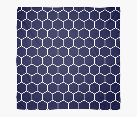 Honeycomb in Ink Blue