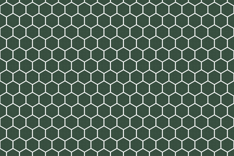 Honeycomb in Pine Green fabric by thistleandfox on Spoonflower - custom fabric