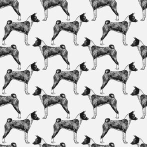 Standing Basenji - gray
