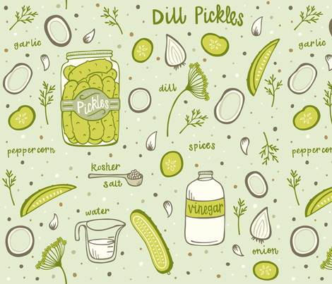 Pickles fabric by jaymehennel on Spoonflower - custom fabric