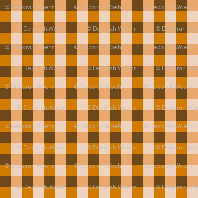 Orange Brown Gingham