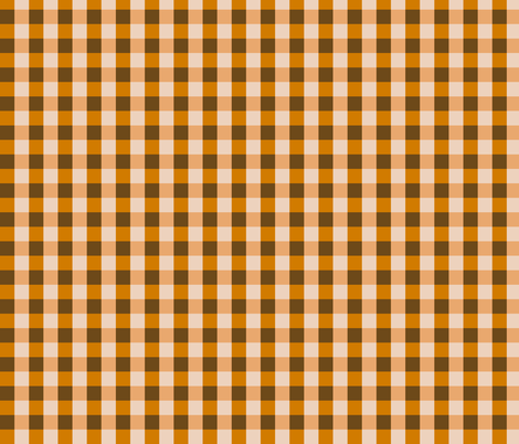 Orange Brown Gingham fabric by dawsurfacedesign on Spoonflower - custom fabric