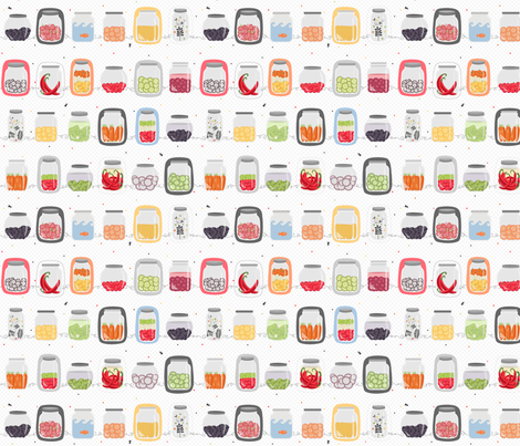 bocaux_pickles fabric by la_fabriken on Spoonflower - custom fabric