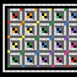 Rainbow Grid Cheater Panel Quilt