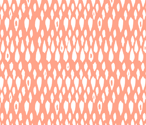 Ikat Drops - coral fabric by alison_janssen on Spoonflower - custom fabric