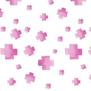 watercolor plus pink
