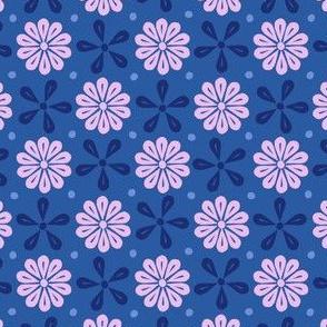 Peoria Mu - Flowers (Medium Blue)