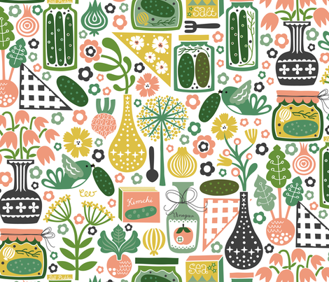 Pickles from the Old Garden fabric by christinewitte on Spoonflower - custom fabric
