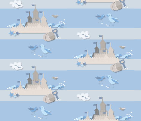 paper_sandcastles_peace fabric by colour_angel_by_kv on Spoonflower - custom fabric
