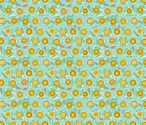 sandcastles tiny fabric by scrummy on Spoonflower - custom fabric