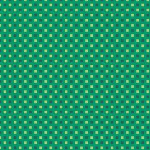 Mini-Windowpane Check in Soft Lime and Spruce Green on Aventurine