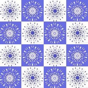 Indigo snowflakes